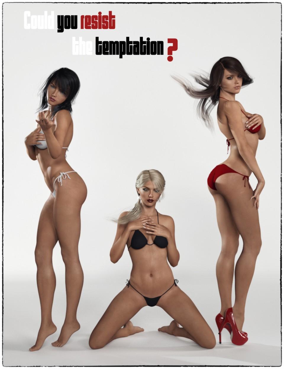 Temptation Poses for Genesis 3 Female_DAZ3D下载站