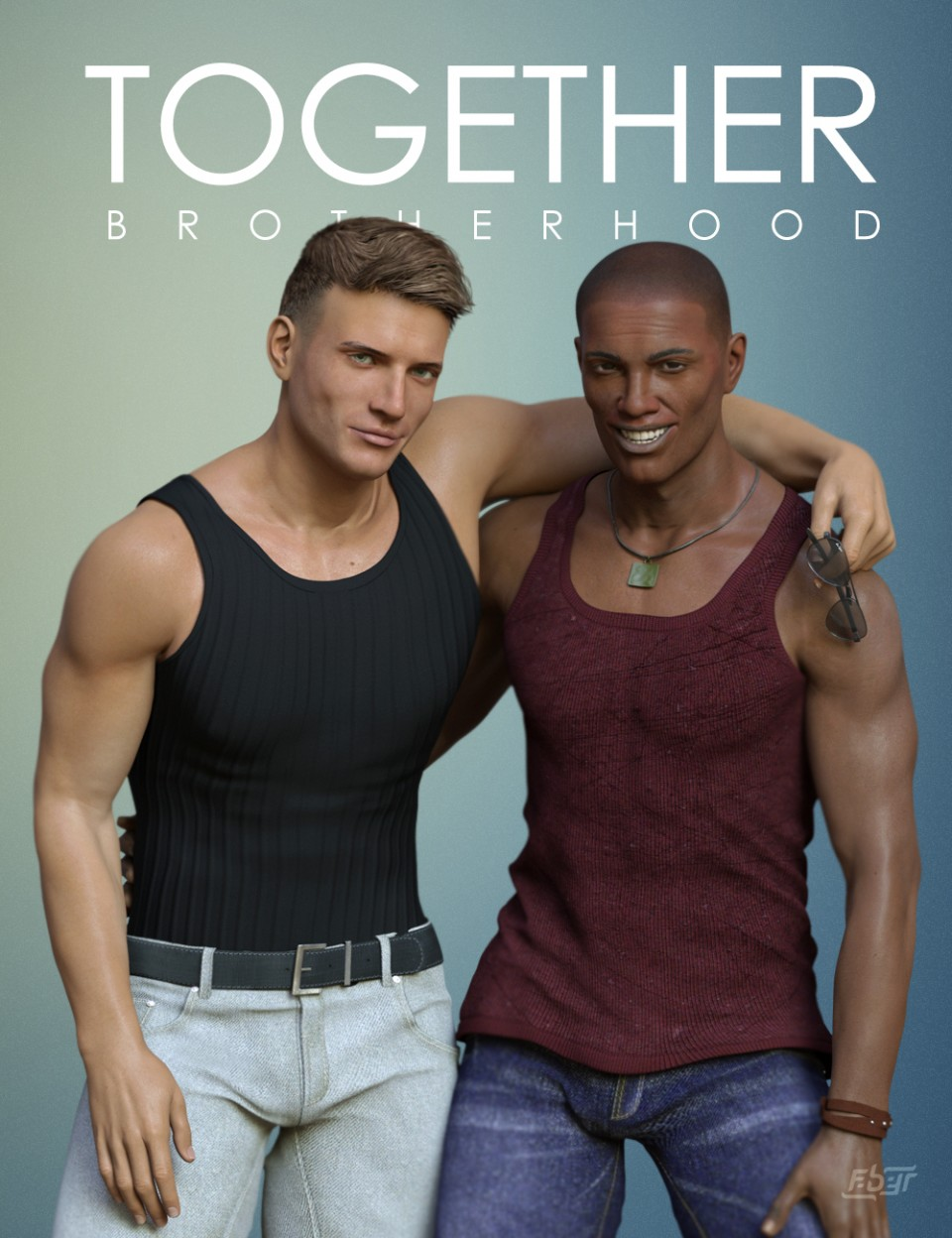 Together: Brotherhood Poses for Genesis 8 Male(s)_DAZ3D下载站