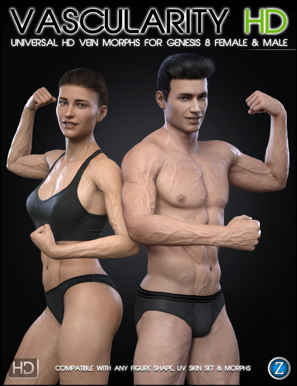 Vascularity HD for Genesis 8 Female and Male_DAZ3D下载站