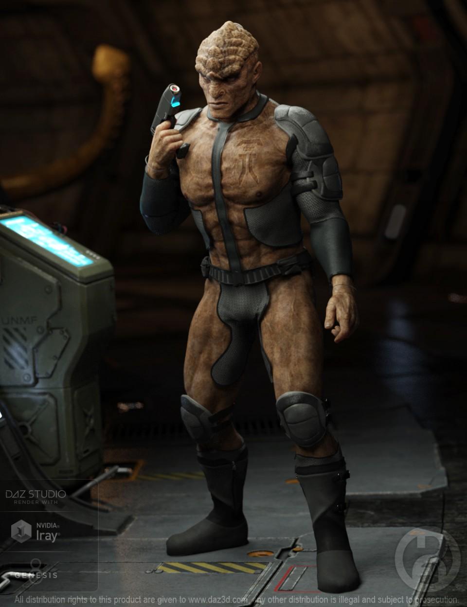 Wargahn Alien for Genesis 8 Male(s)_DAZ3D下载站