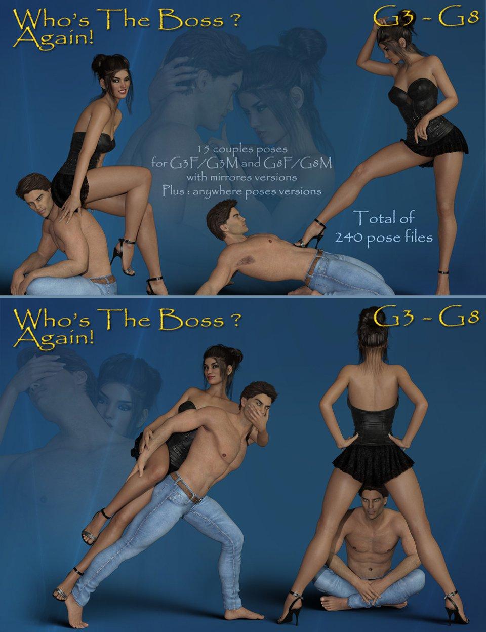 Who's The Boss Again ? G3F-G3M – G8F-G8M_DAZ3D下载站