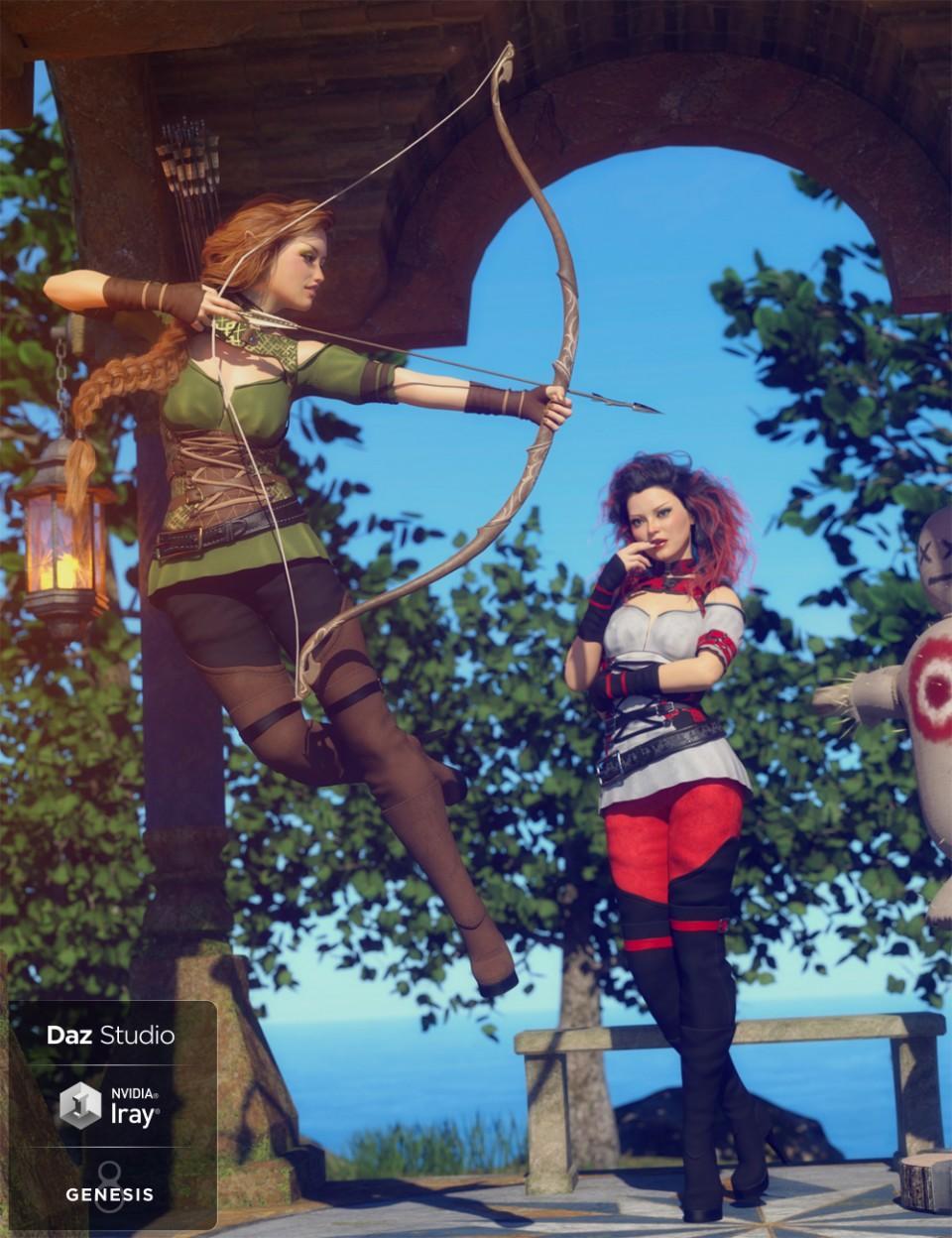 Woodland Rogue Outfit Textures_DAZ3D下载站