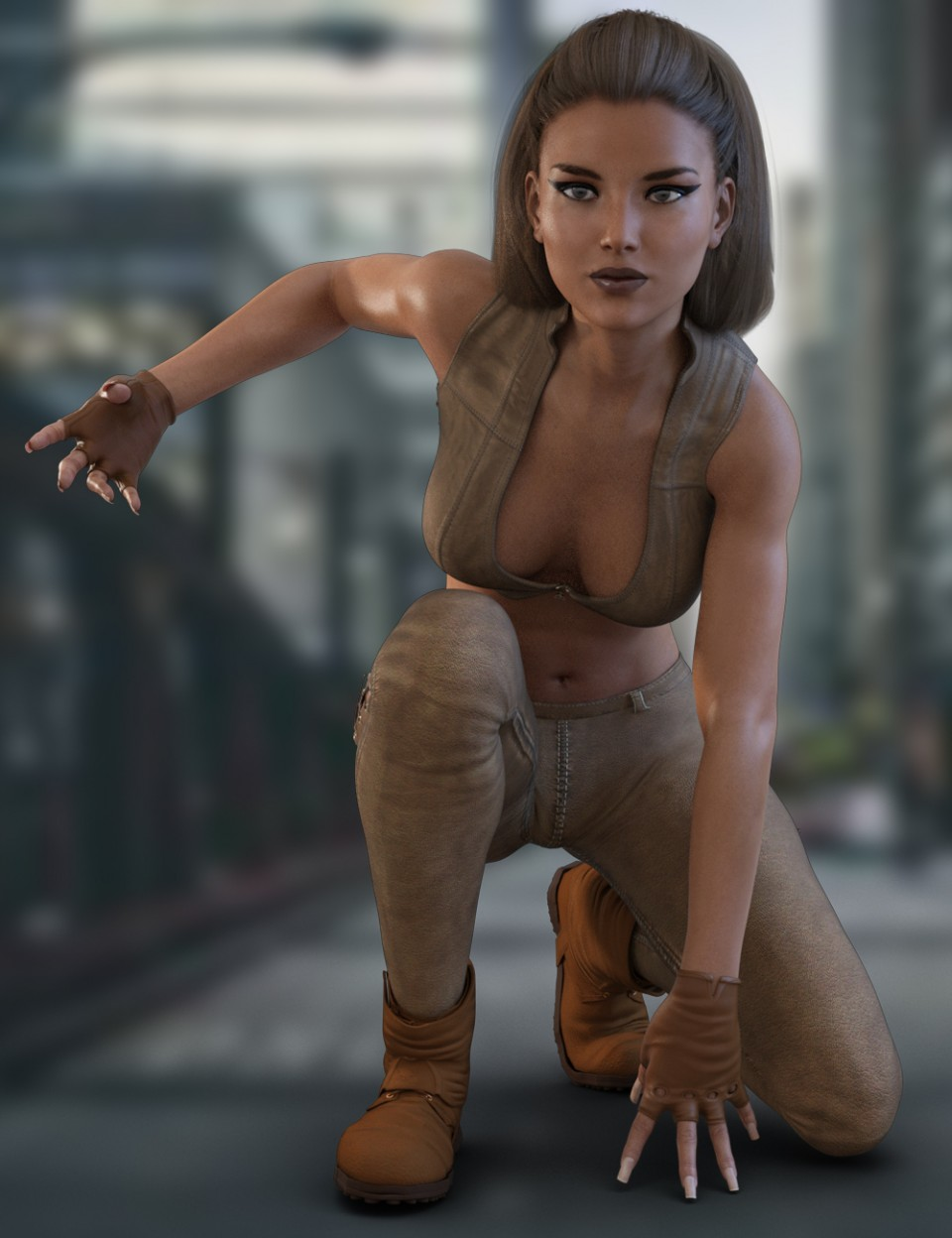 X-Fashion Reckless Outfit for Genesis 3 Female(s)_DAZ3D下载站