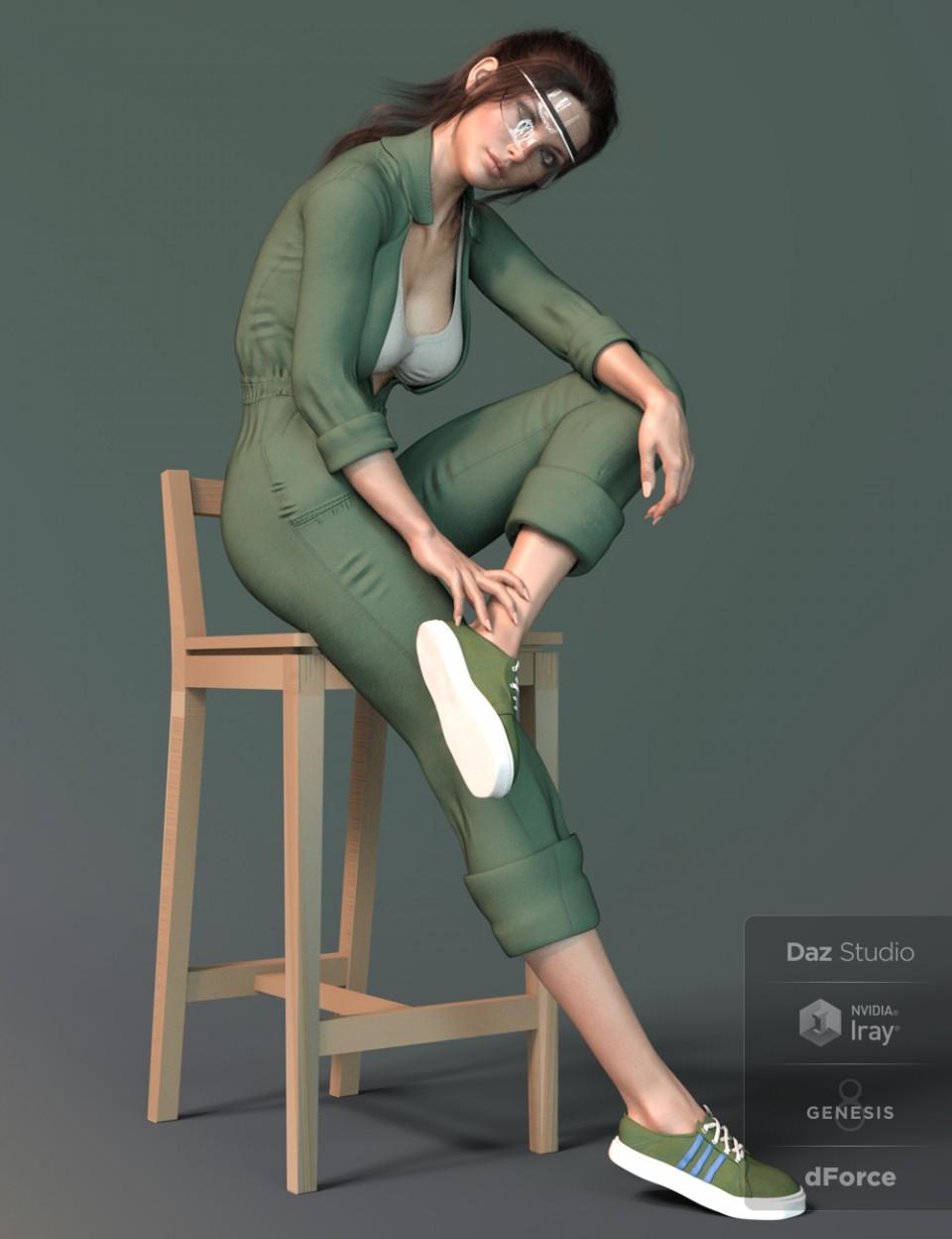 X-Fashion Uniform 02 for Genesis 8 Female(s)_DAZ3D下载站