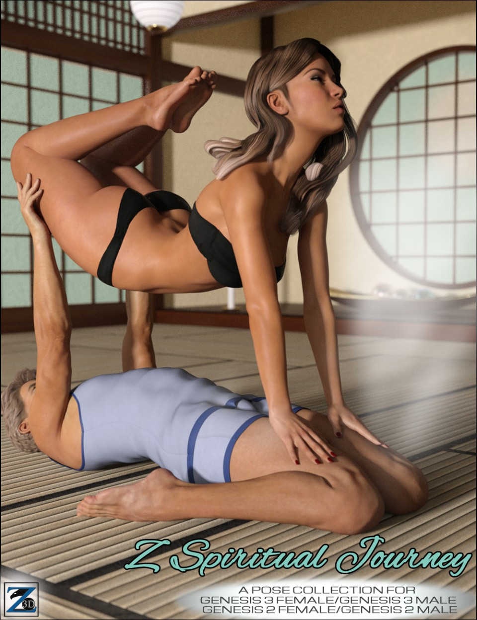 Z Spiritual Journey – Poses for Genesis 2 & 3 Female and Male_DAZ3D下载站