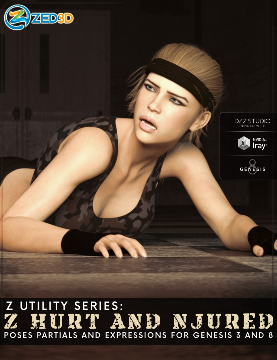 Z Utility Series: Hurt and Injured – Poses, Partials and Expressions for Genesis 3 and 8_DAZ3D下载站