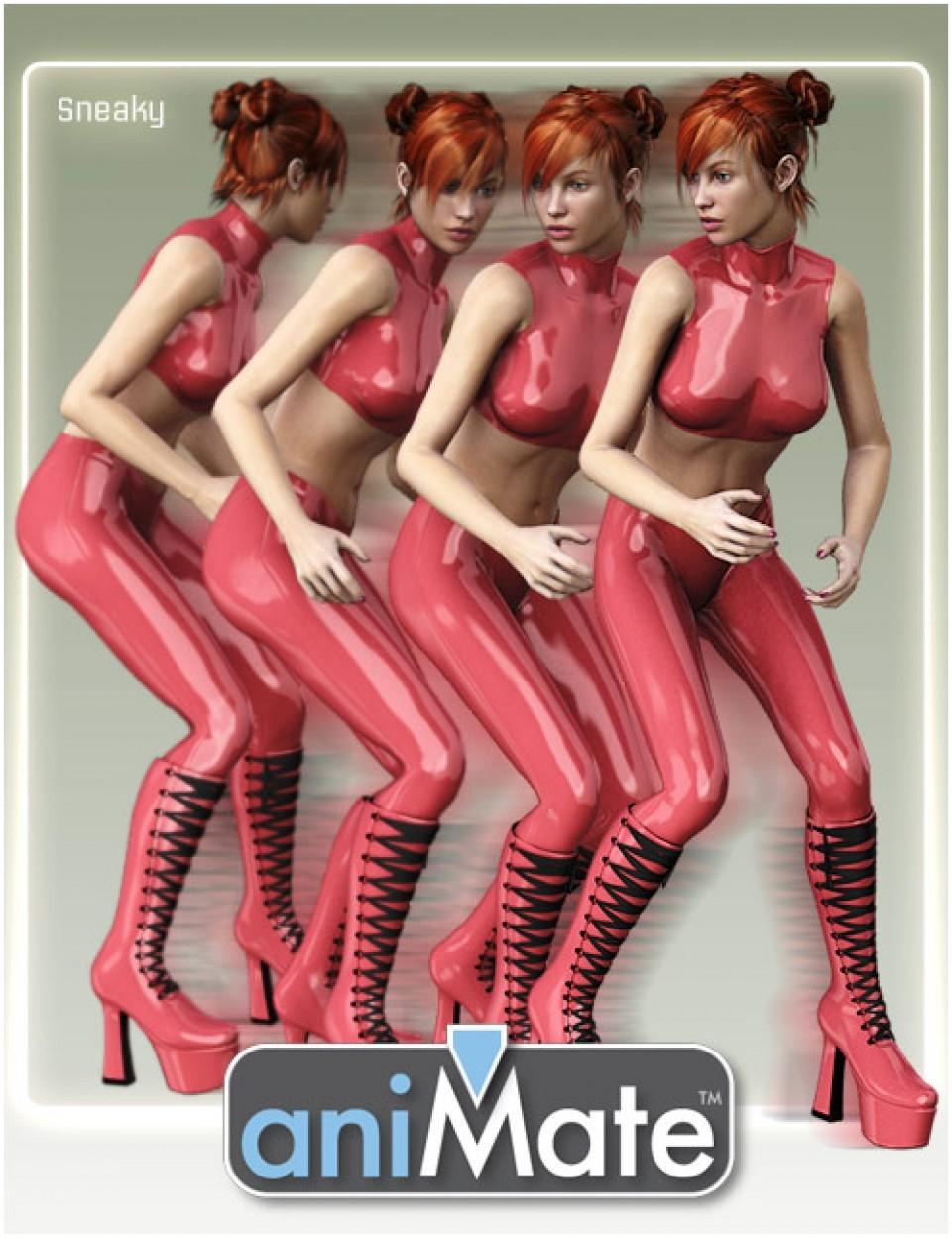 aniMate Walk Styles 1 for Victoria 8_DAZ3D下载站
