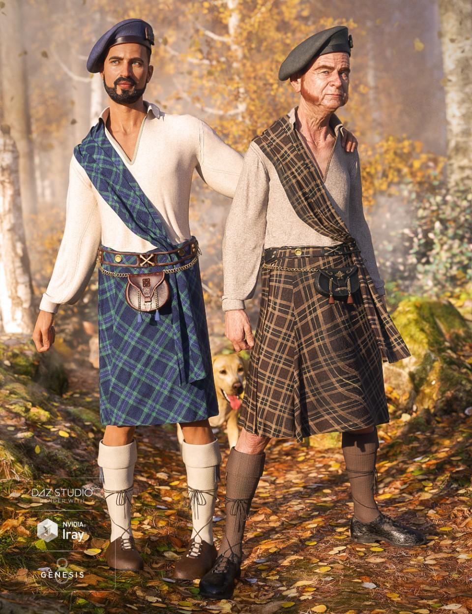 dForce Kilt: The Highlands_DAZ3D下载站