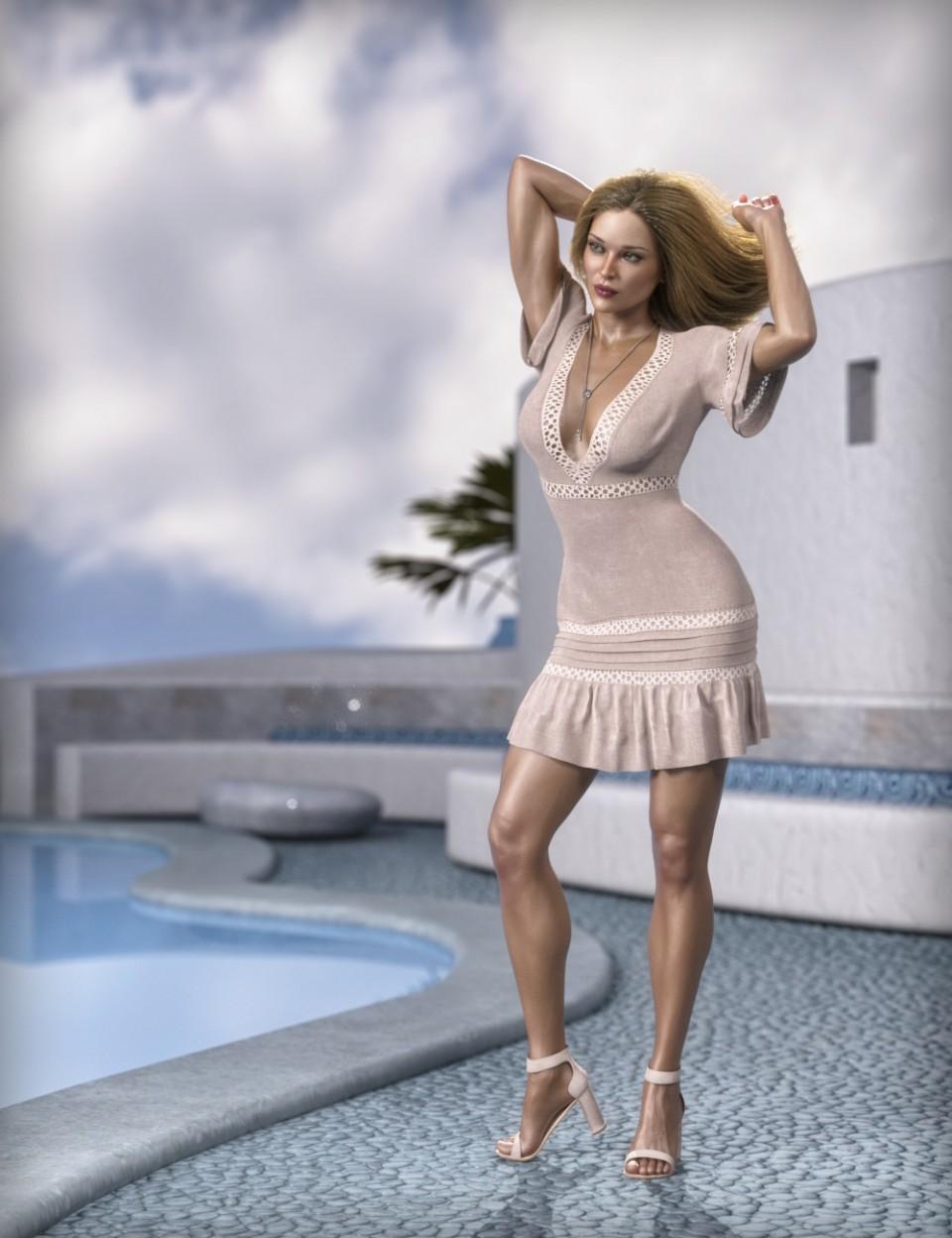 dForce MDSD Rhodes Summer Set Outfit for Genesis 8 Female(s)_DAZ3D下载站