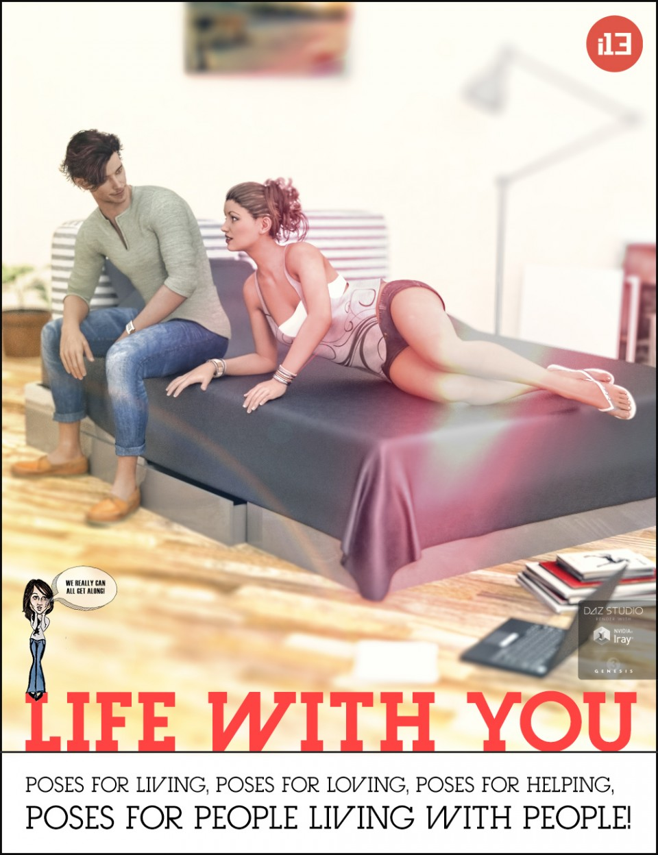 i13 Life with You! Pose Collection for the Genesis 3 Male(s) and Genesis 3 Female(s)_DAZ3D下载站