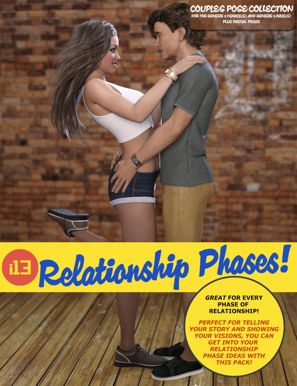 i13 Relationship Phases Pose Collection_DAZ3D下载站
