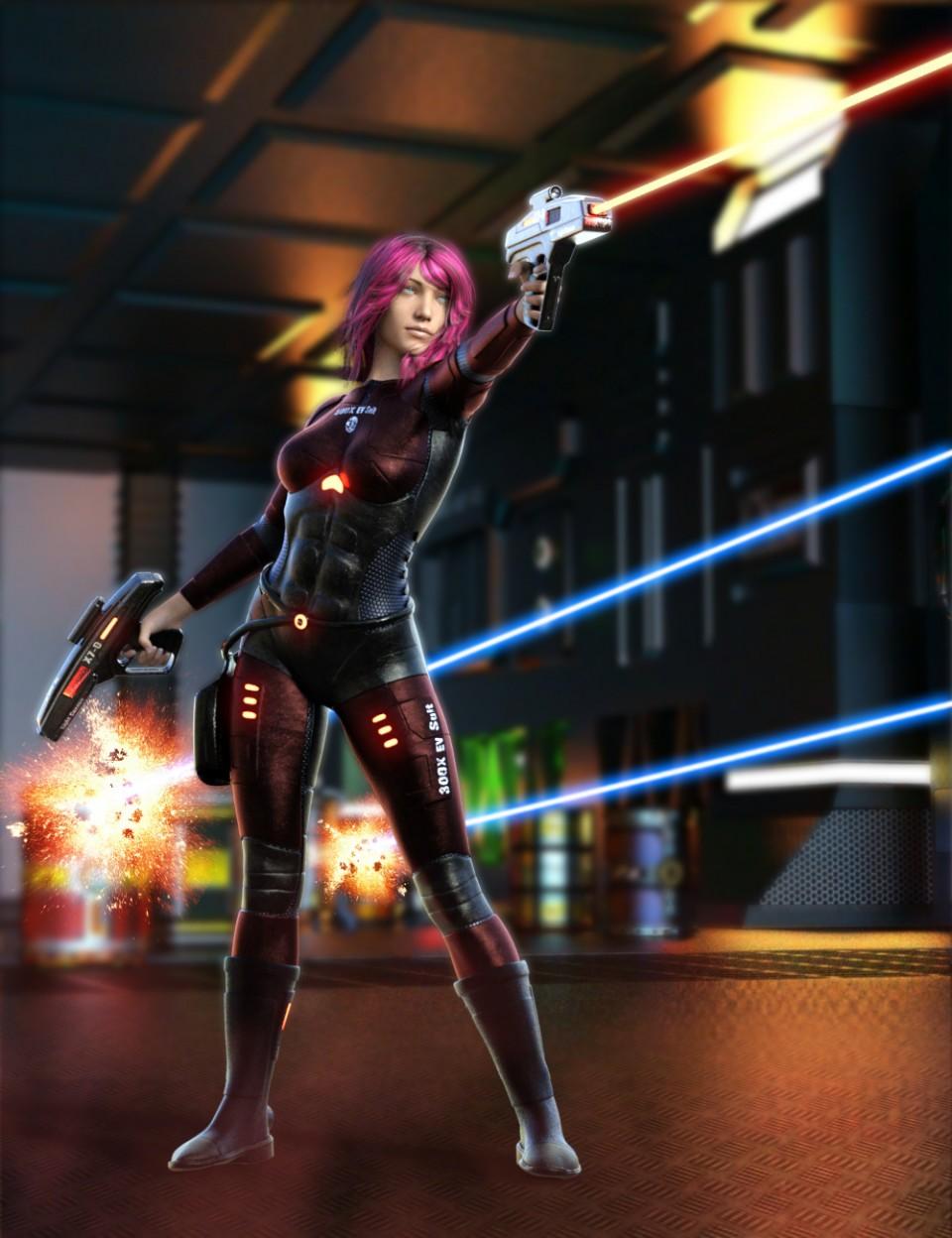 300X EV Suit for Genesis 8 Female(s)_DAZ3D下载站