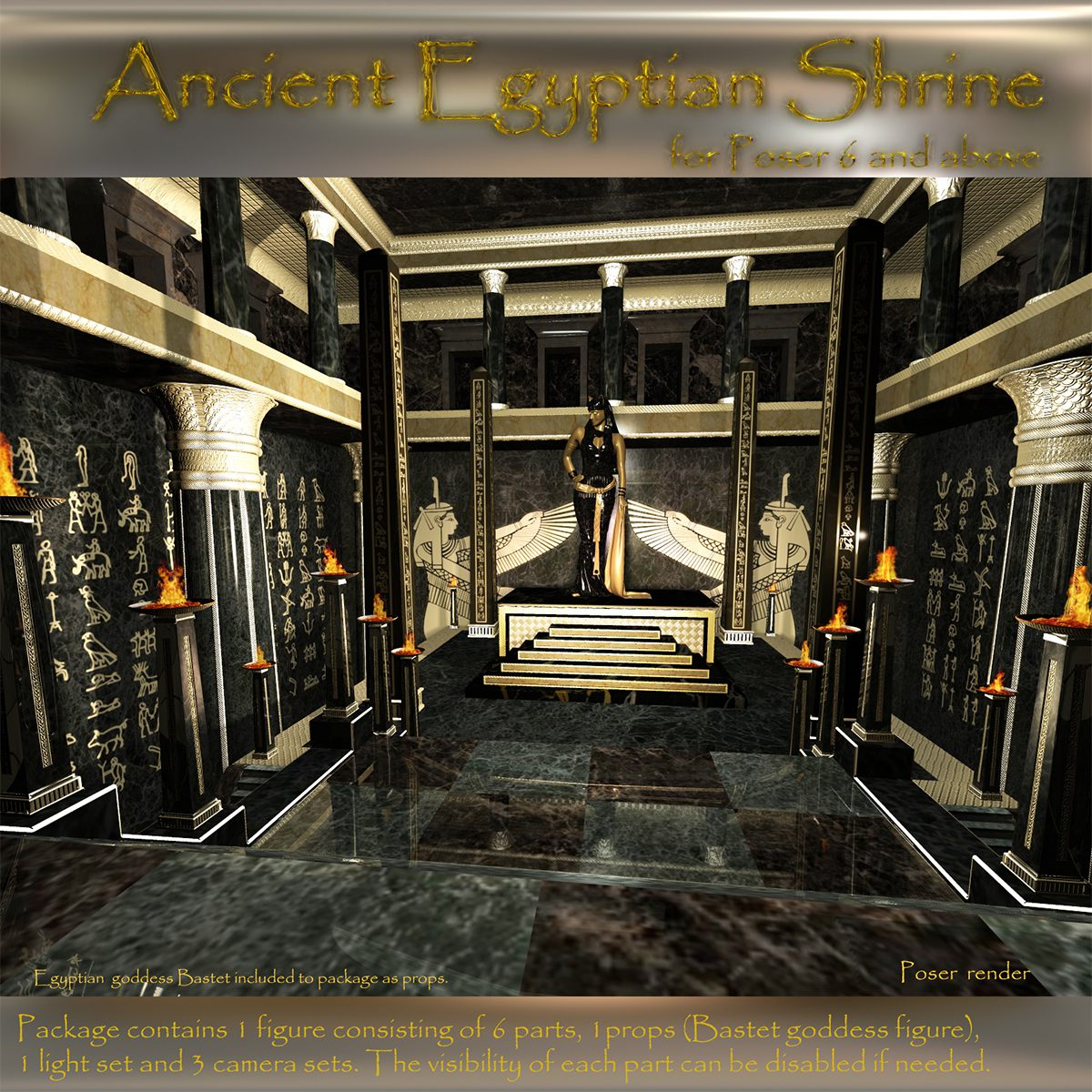 AJ Ancient Egyptian Shrine_DAZ3D下载站