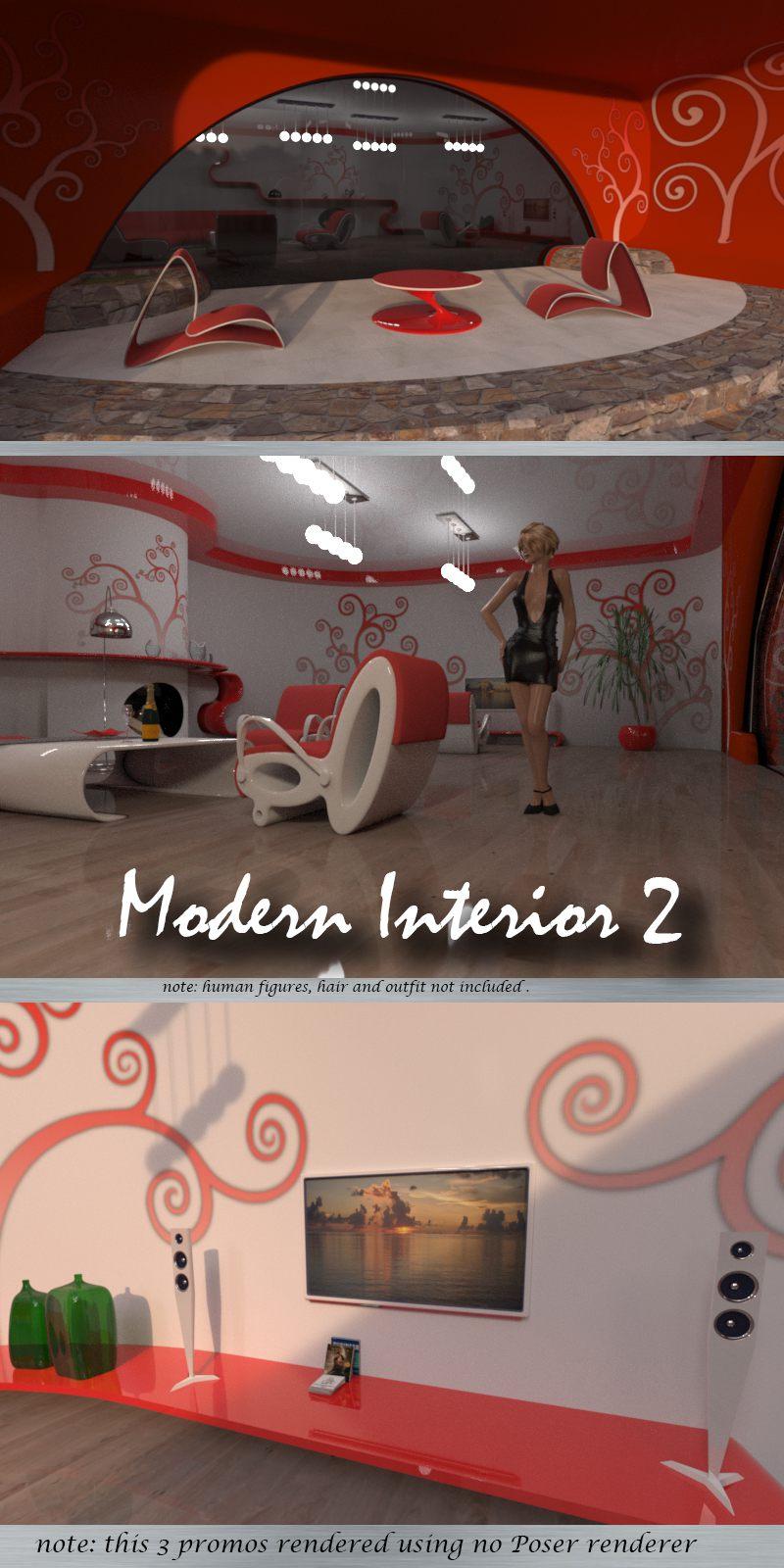 AJ Modern Interior 2_DAZ3D下载站