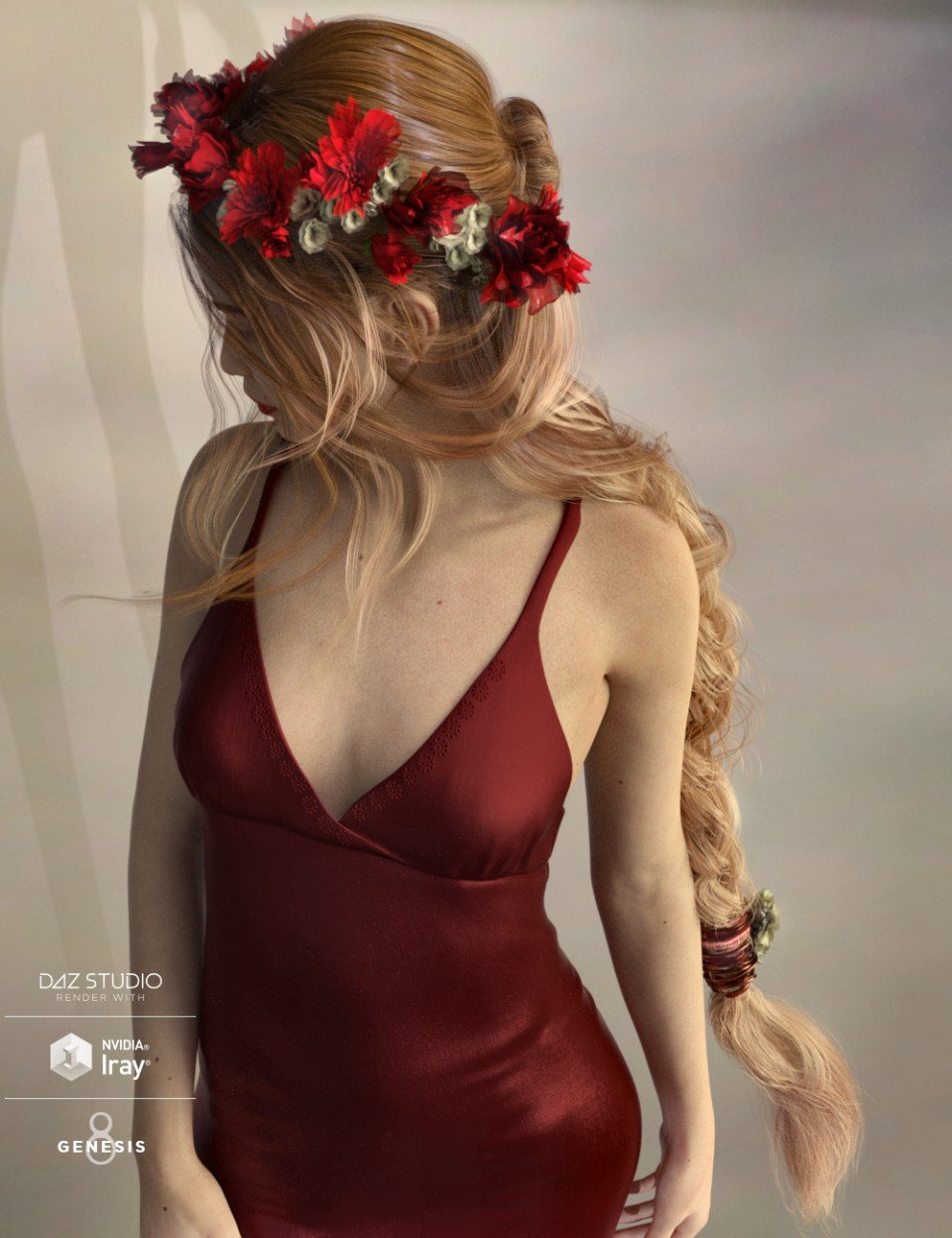 Arion Braid for Genesis 3 and Genesis 8 Female(s)_DAZ3D下载站