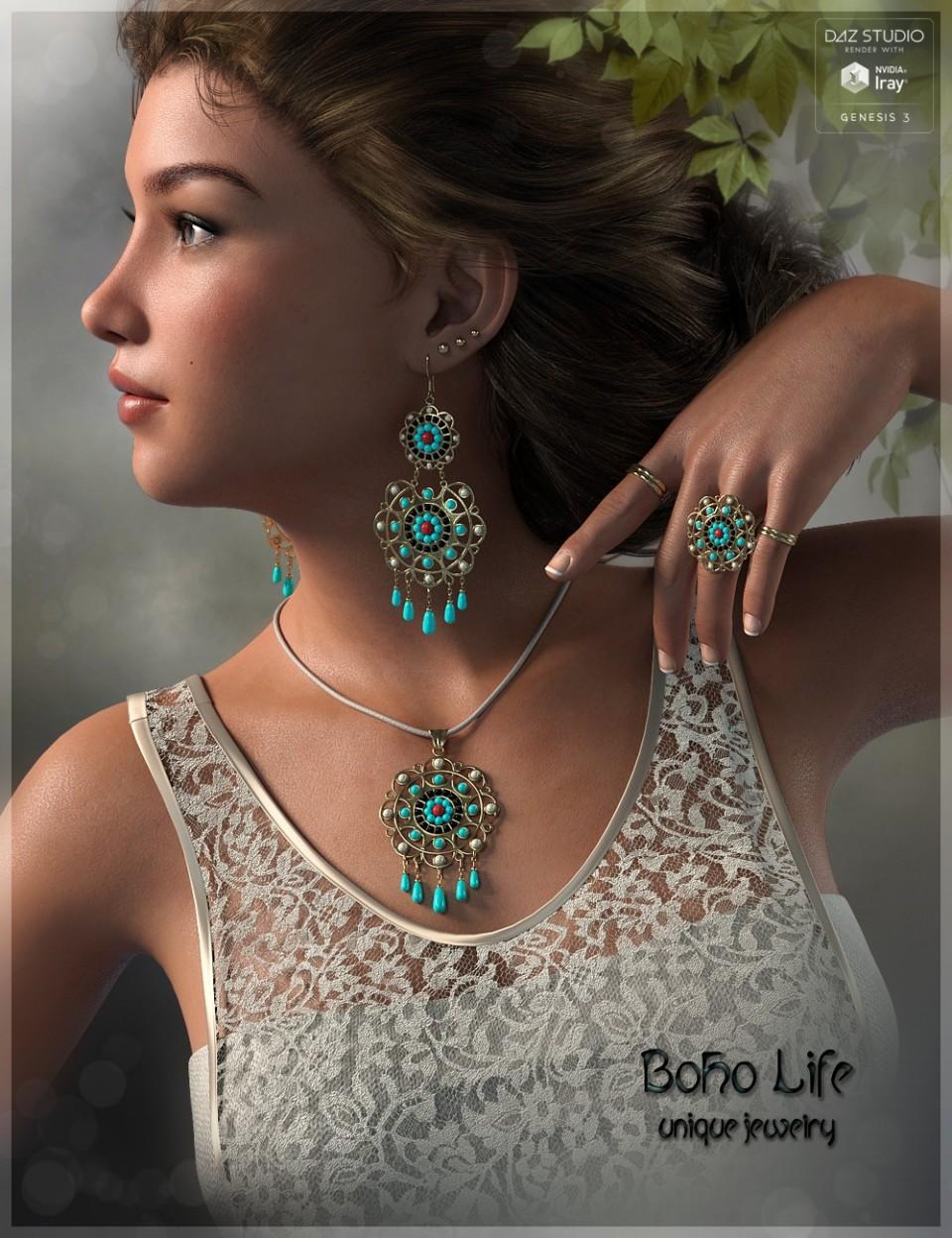 Boho Life Jewelry G3F_DAZ3D下载站