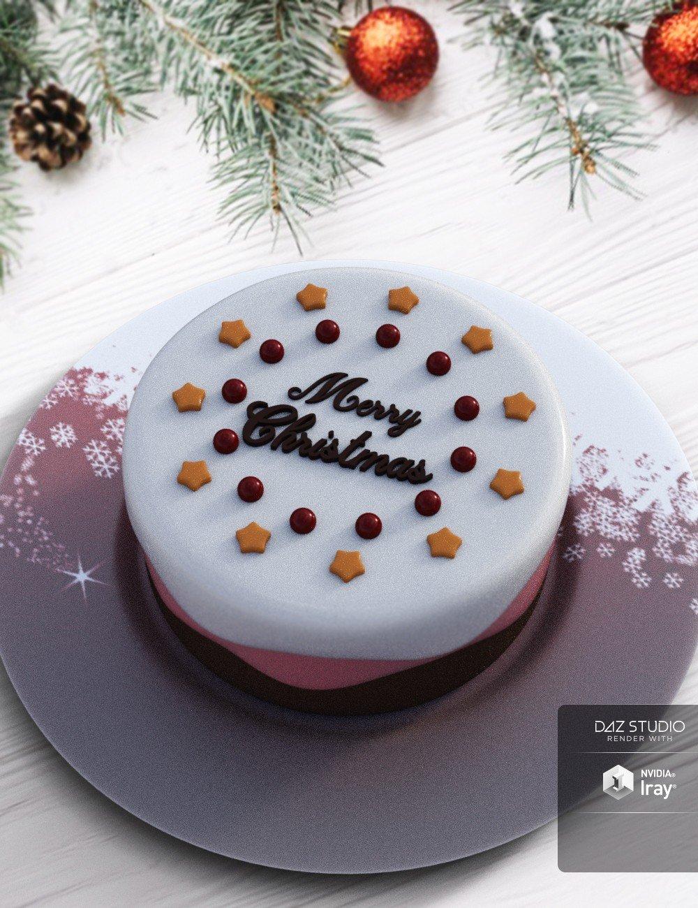 Christmas Cake_DAZ3D下载站