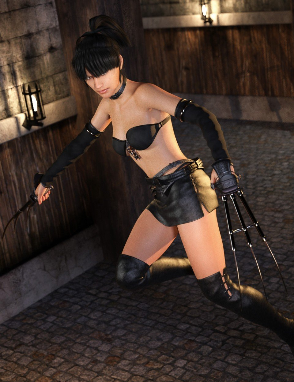 Claw Fighter for Genesis 8 Female(s)_DAZ3D下载站