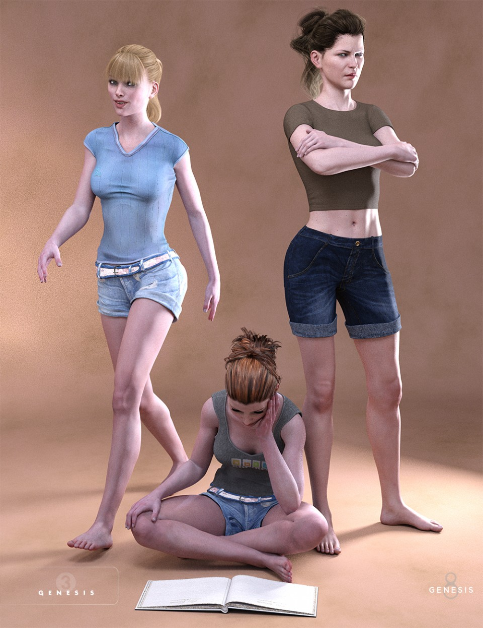 Daily Things Poses for Victoria 7 and 8_DAZ3D下载站