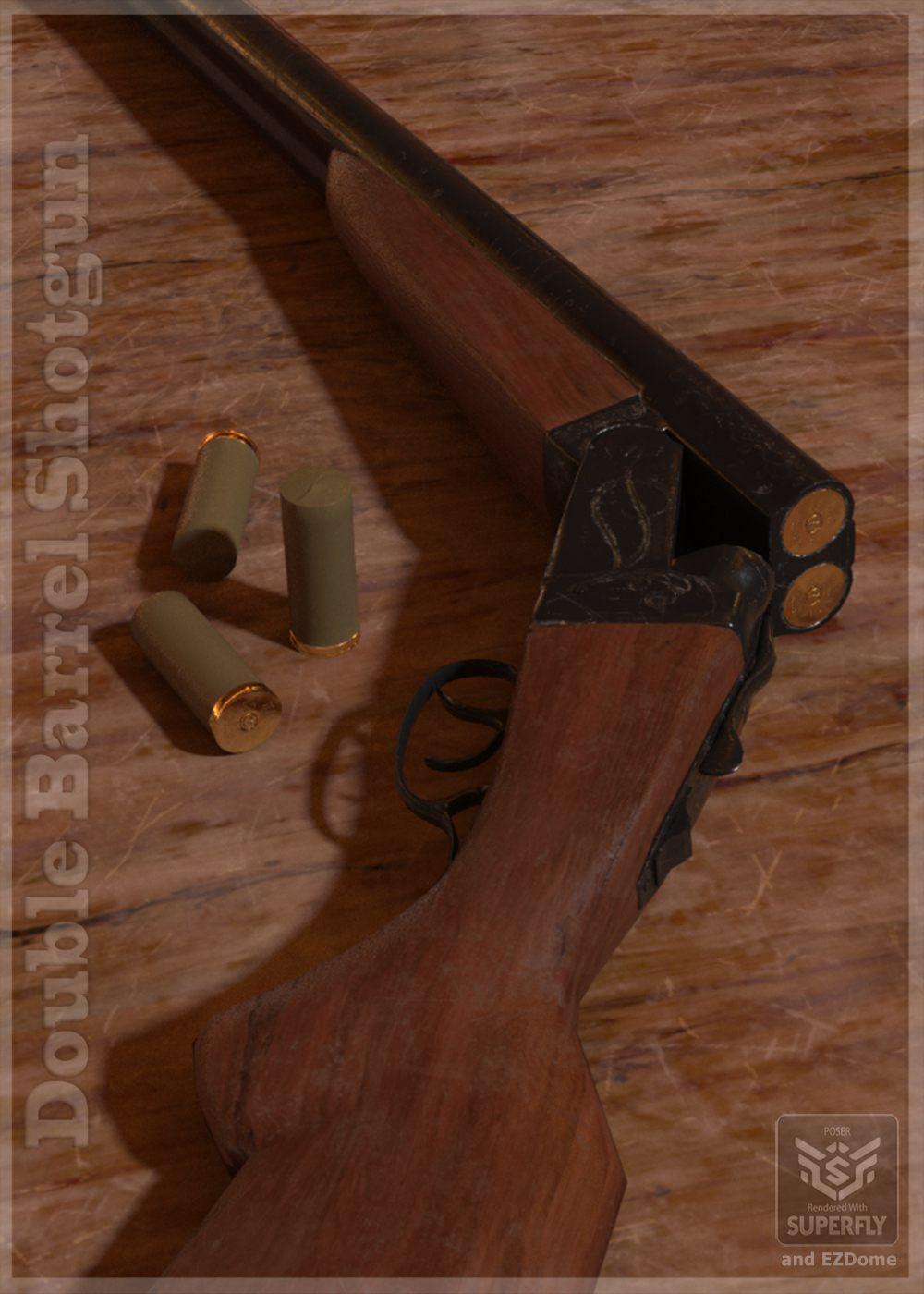 Double Barrel Shotgun_DAZ3D下载站