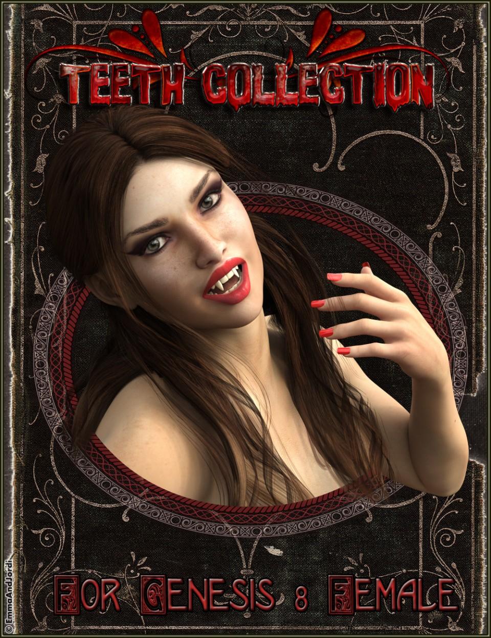 EJ Teeth Collection for Genesis 8 Female(s)_DAZ3D下载站