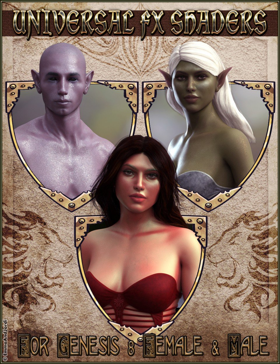 EJ Universal FX Shaders for Genesis 8 Female(s) and Male(s)_DAZ3D下载站