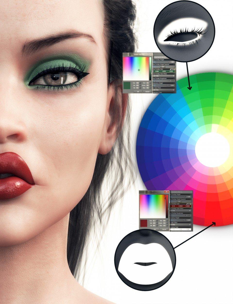 Essential Makeup for Genesis 8 Female_DAZ3D下载站