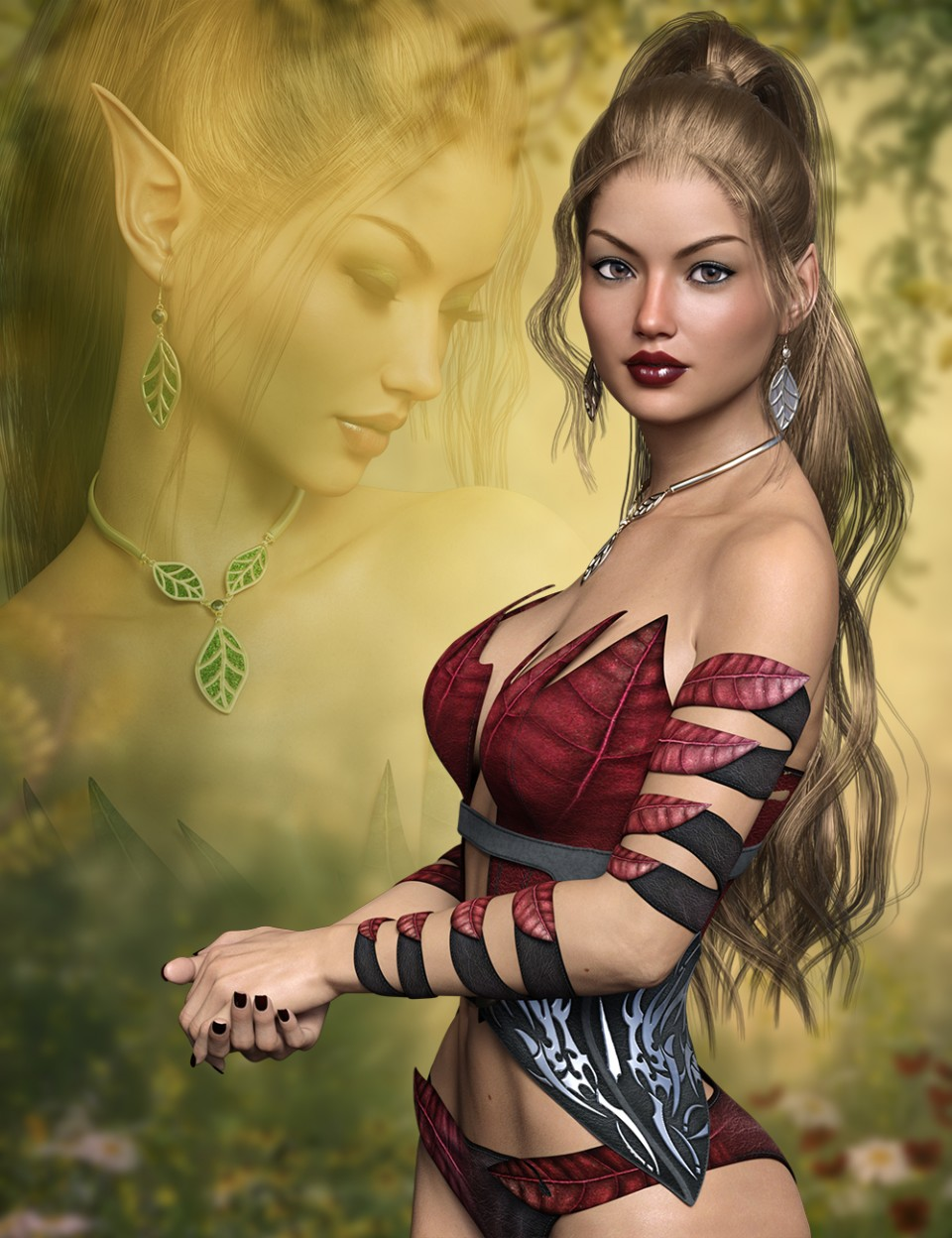 FWSA Vanessa HD for Victoria 7 and her Jewelry_DAZ3D下载站