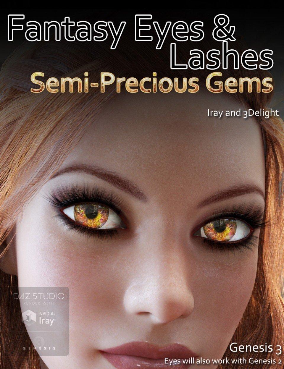 Fantasy Eyes – Semi Precious Gems and Lashes_DAZ3D下载站