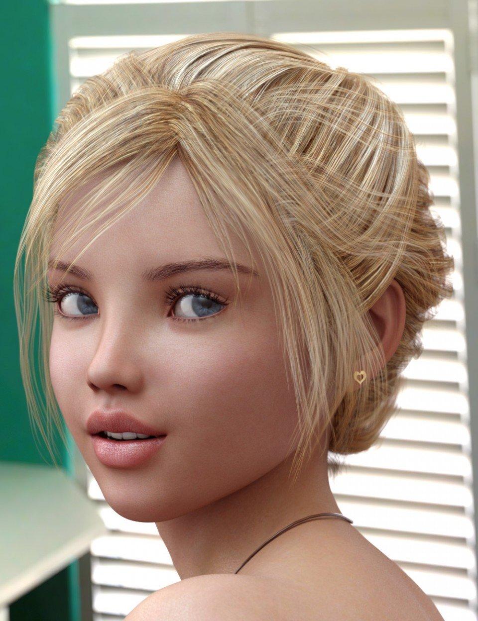 Fantasy Hair for Genesis 3 Female(s)_DAZ3D下载站