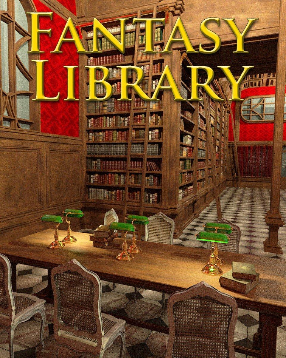 Fantasy Library_DAZ3D下载站