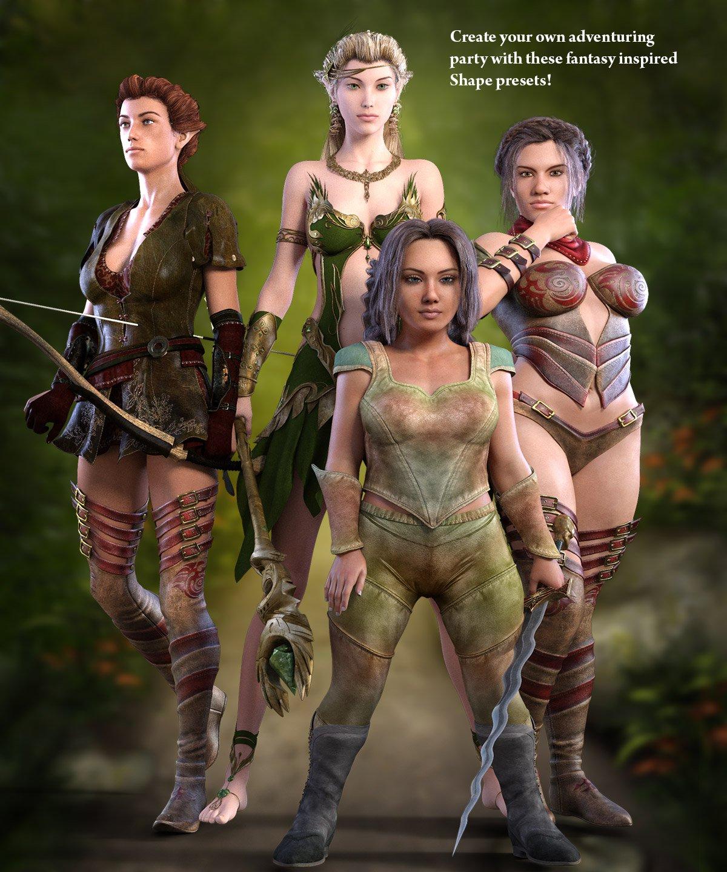 Fantasy Shapes G3F_DAZ3D下载站