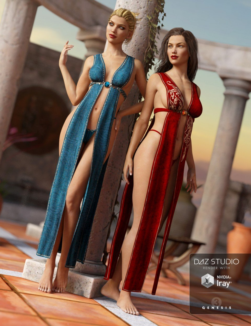 Fantasy Wrap for Genesis 3 Female(s) Textures_DAZ3D下载站
