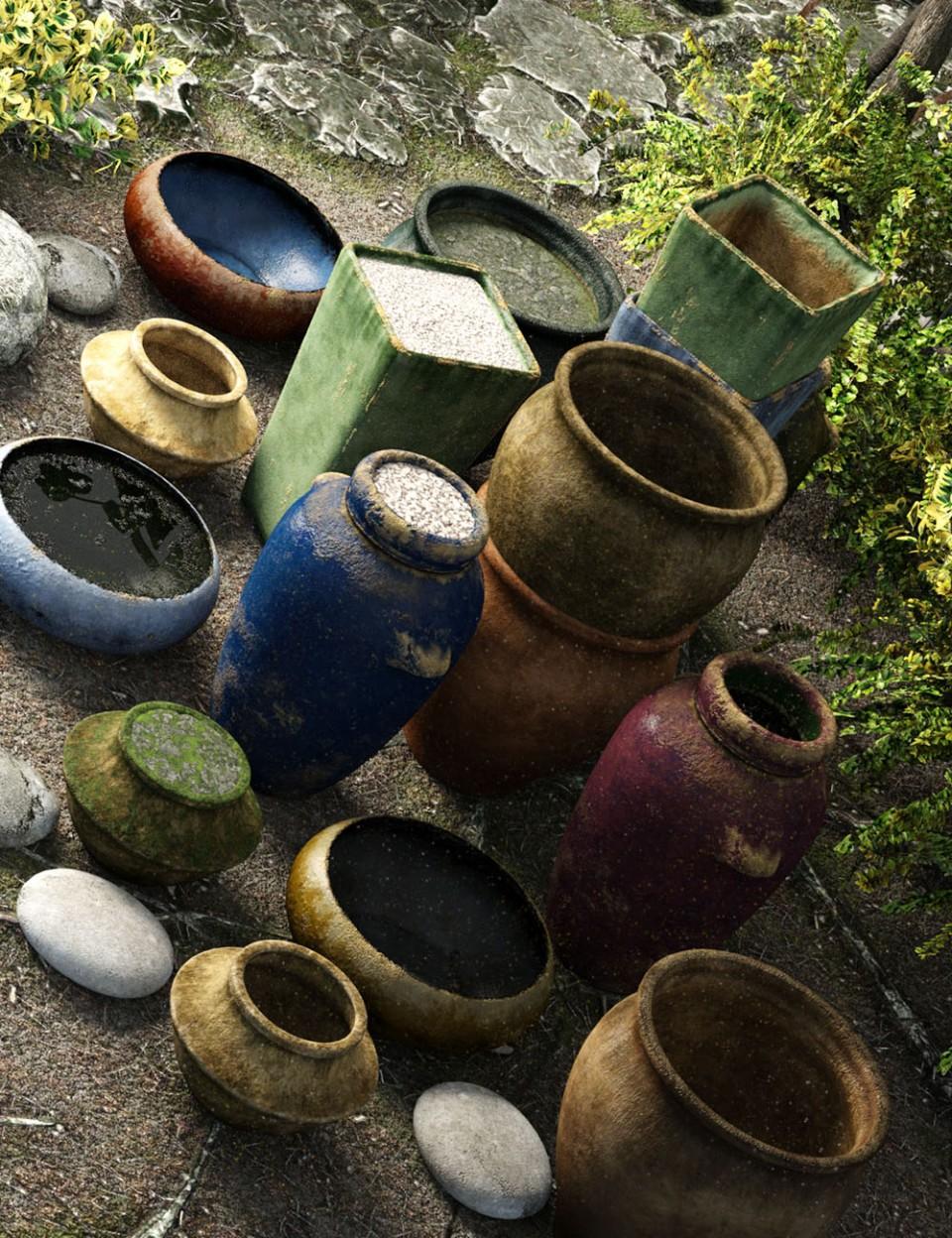 Garden Pottery_DAZ3D下载站