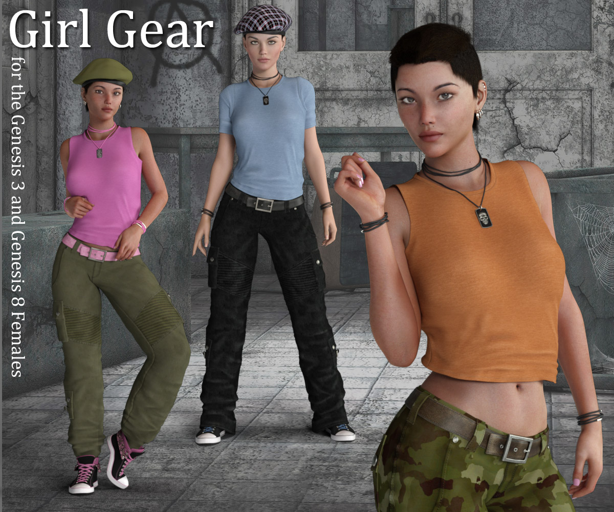 Girl Gear for the G3 and G8 Females_DAZ3D下载站
