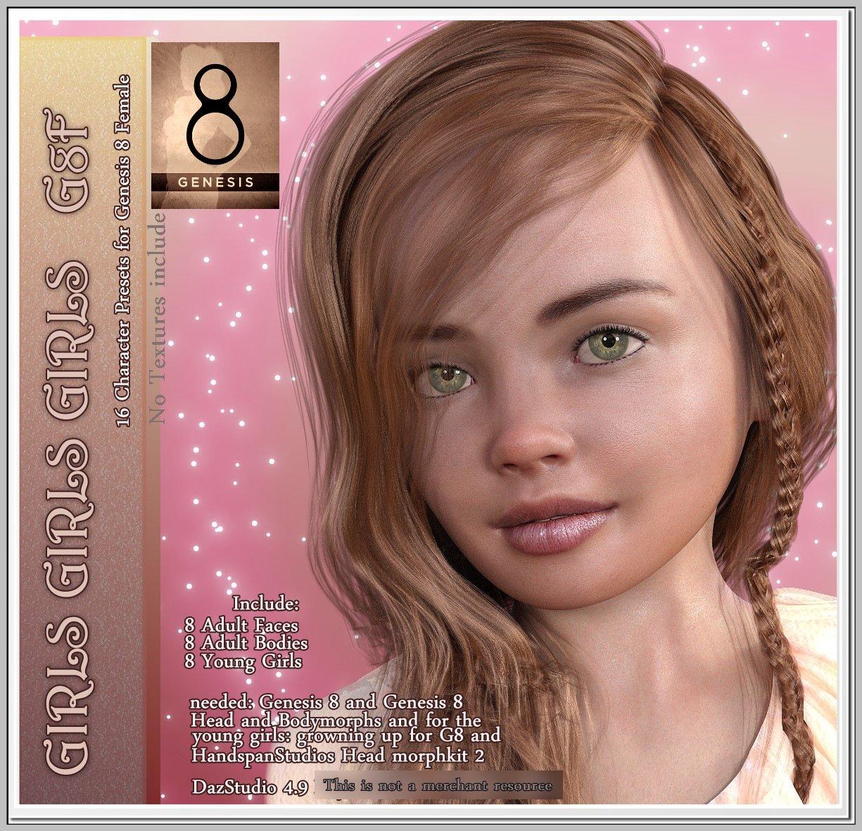 Girls Girls Girls – G8F 16 Characters_DAZ3D下载站
