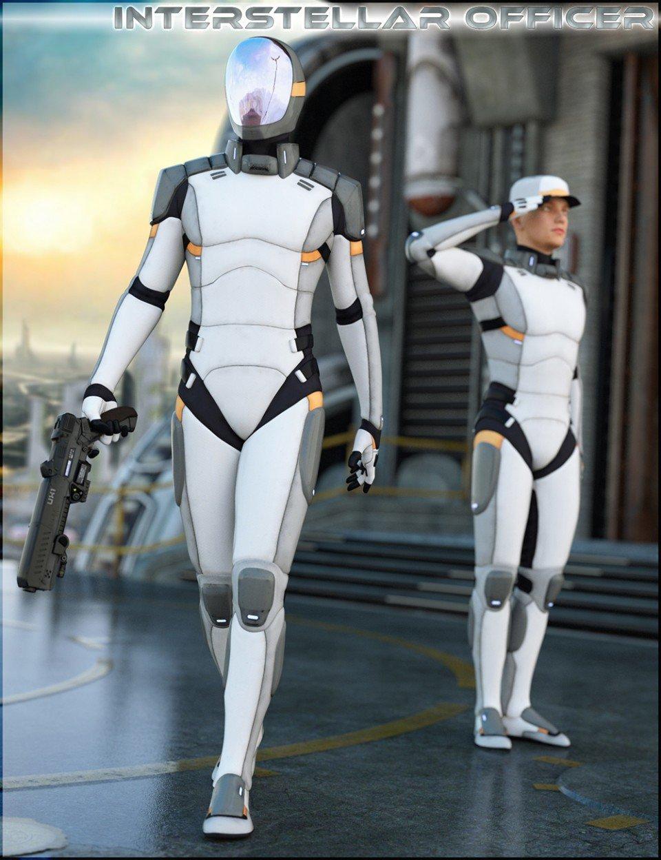 HFS Interstellar Officer for Genesis 3 Male(s)_DAZ3D下载站