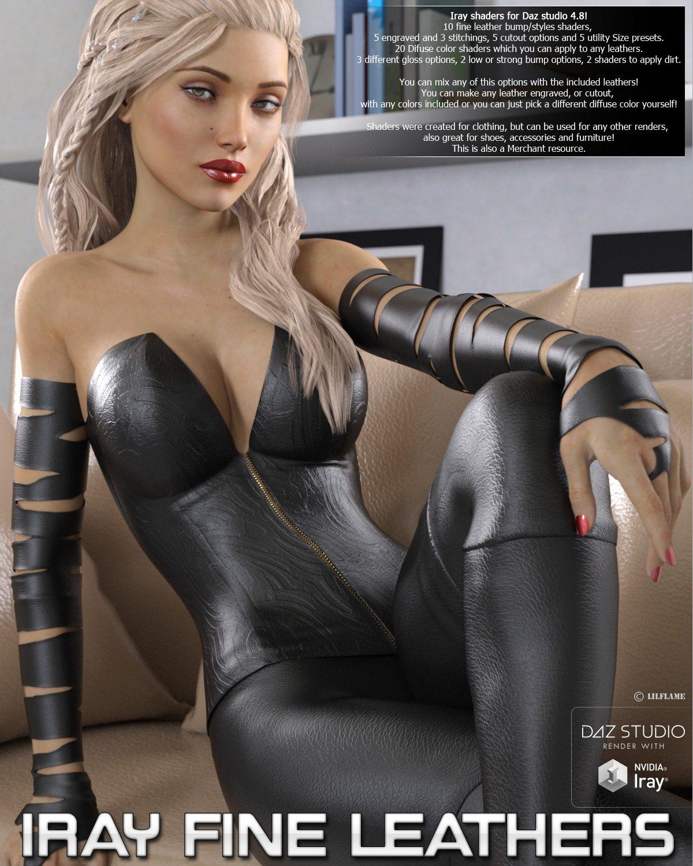 Iray Fine Leather Shaders_DAZ3D下载站