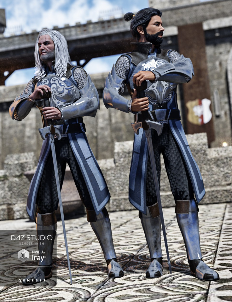 Knight of Valor for Genesis 3 Male(s)_DAZ3D下载站