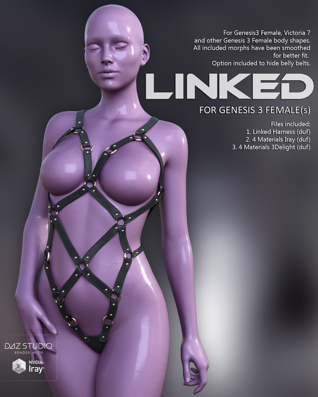 Linked for Genesis 3 Females_DAZ3D下载站