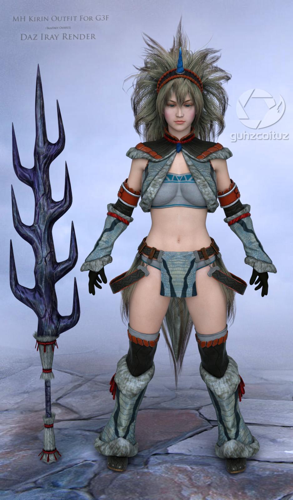 MH Kirin Outfit For G3F_DAZ3D下载站