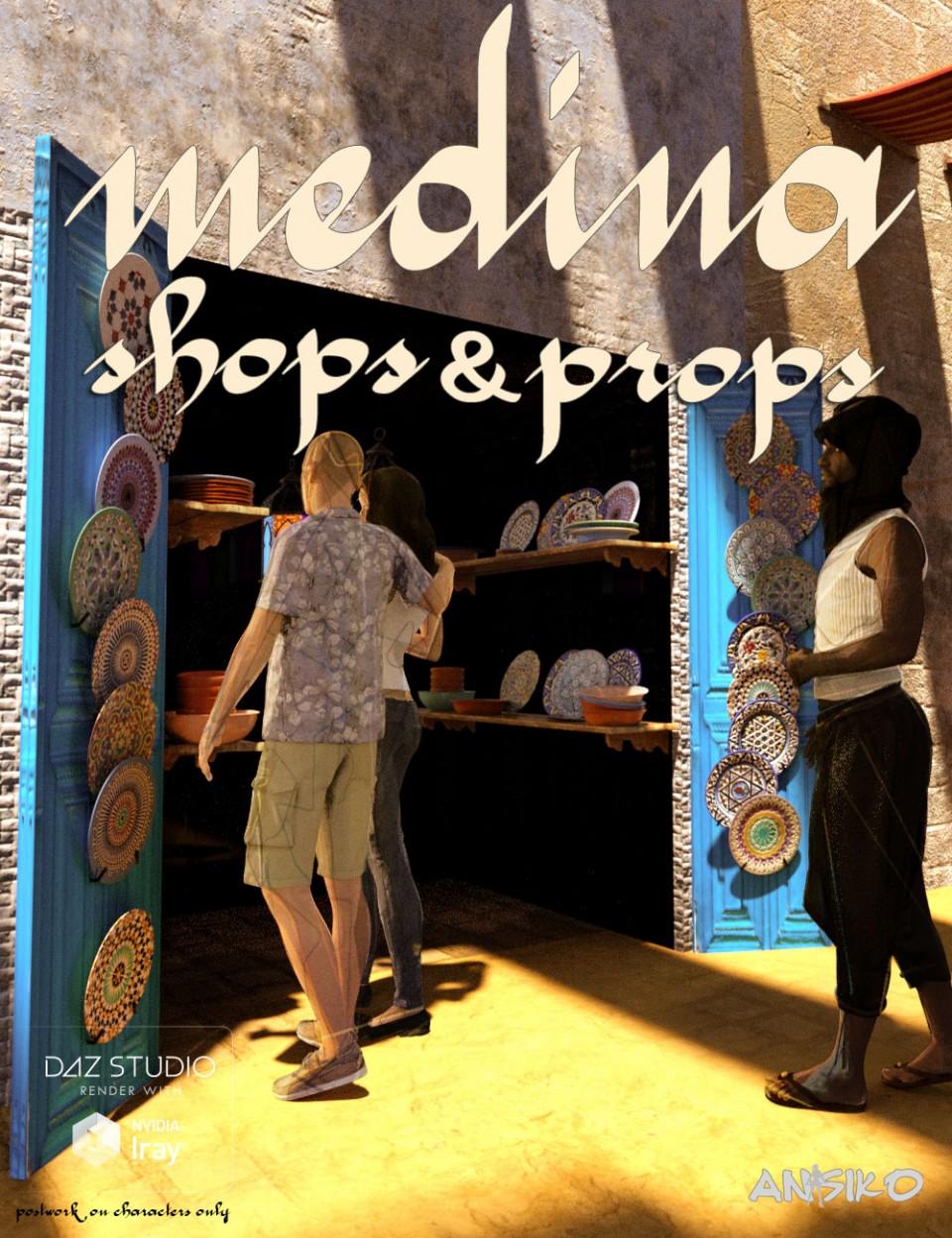 Medina Shops and Props_DAZ3D下载站