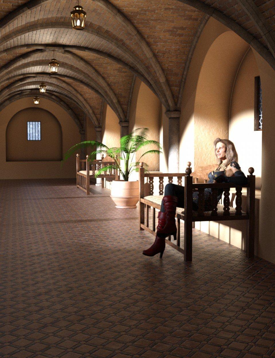 Modular Moroccan Building Set_DAZ3D下载站