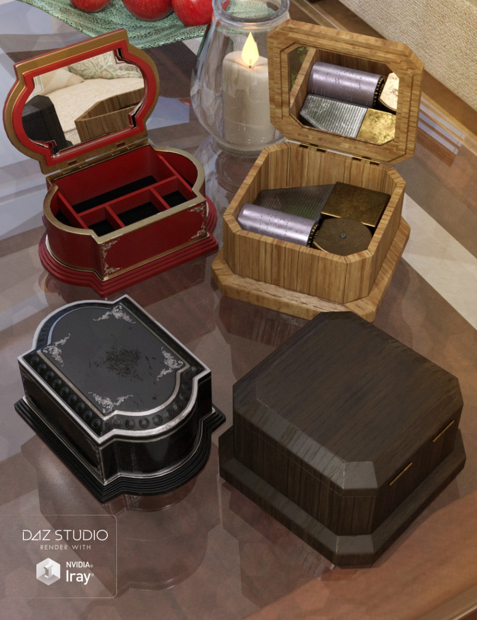 Music and Jewelry Boxes_DAZ3D下载站