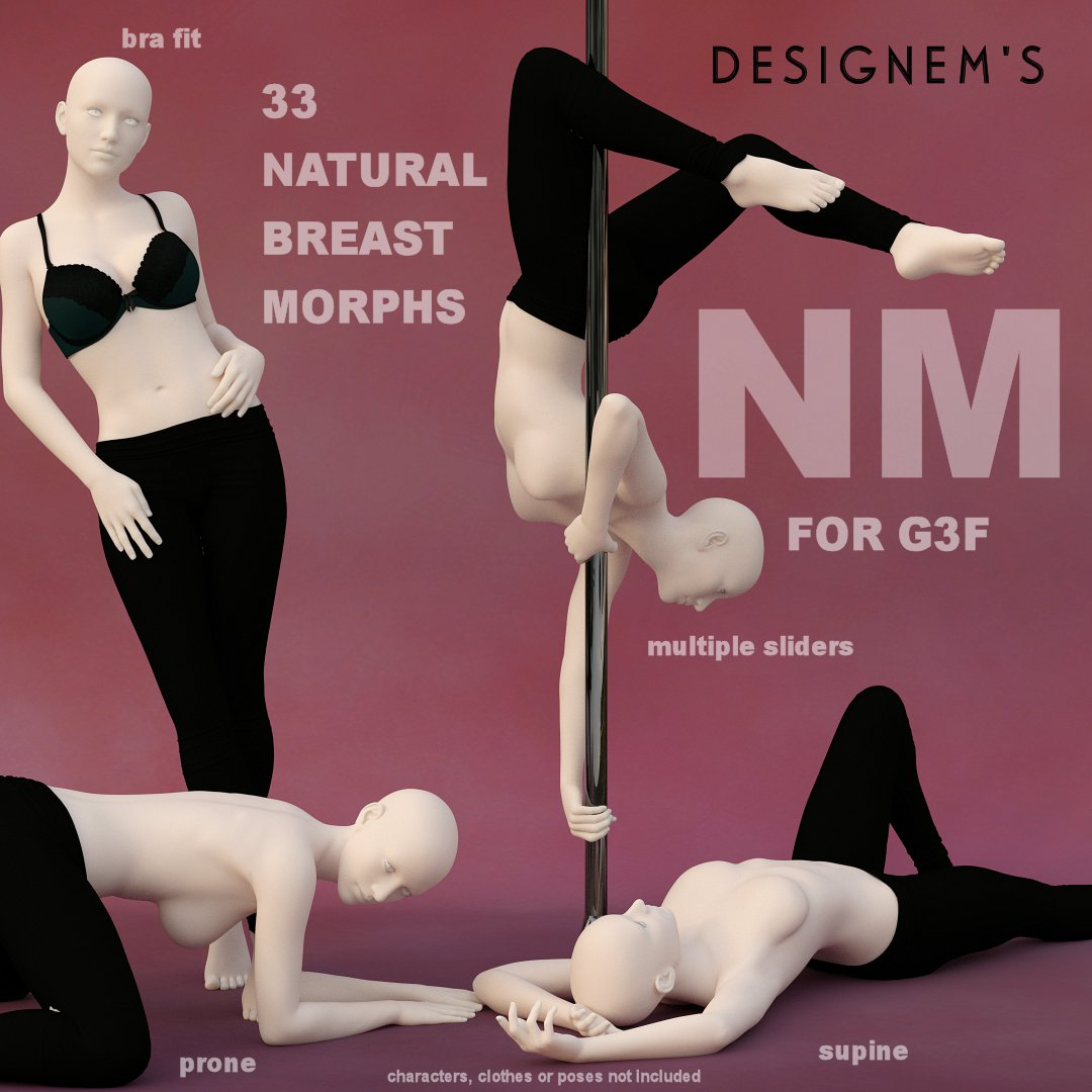 NM_Natural Breast Morphs for G3F_DAZ3D下载站