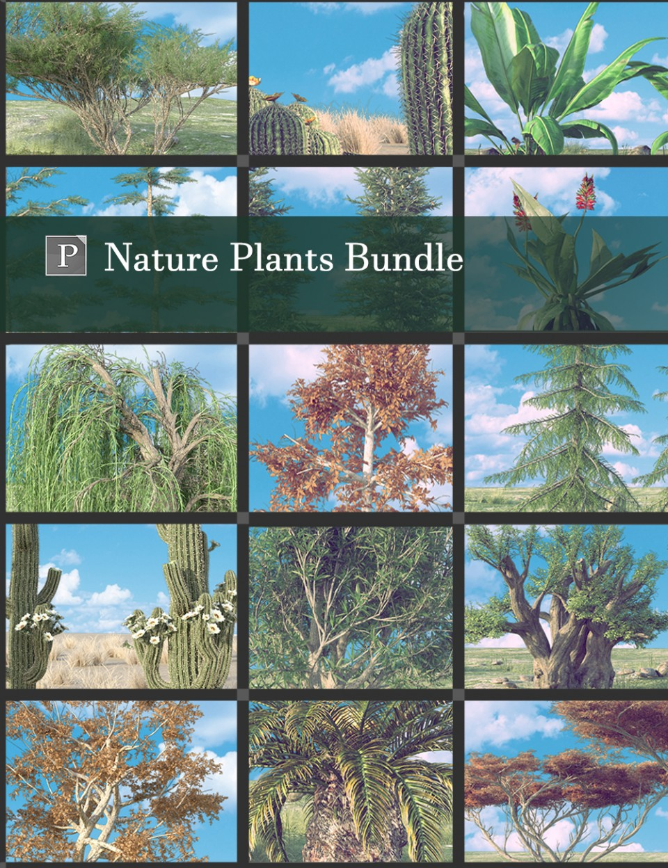 Nature Plants Bundle_DAZ3D下载站