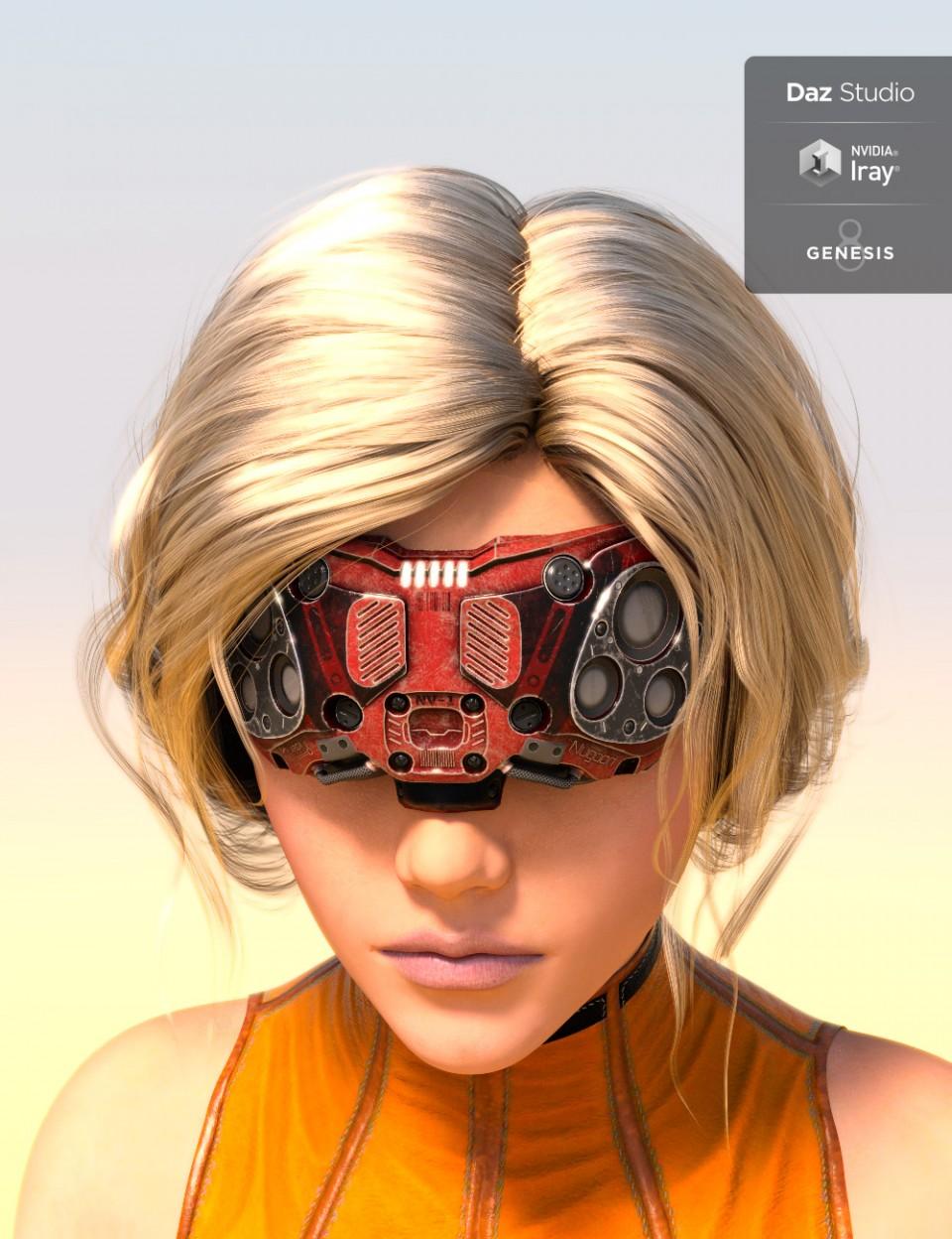 Nugoori Goggles for Genesis 8_DAZ3D下载站