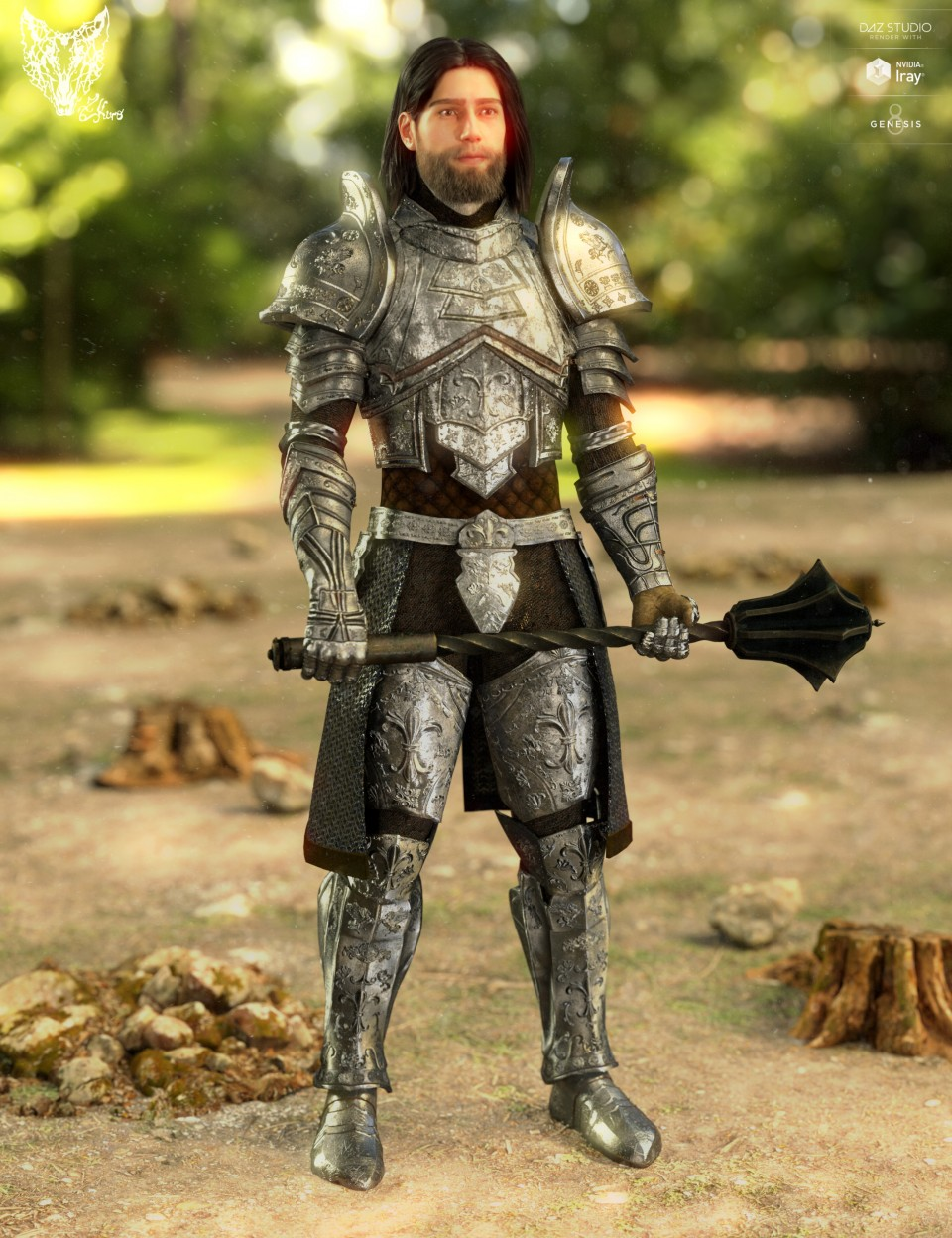 Orlean's Armor for Genesis 8 Male(s)_DAZ3D下载站