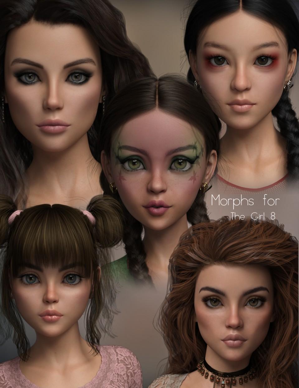 P3D The Girl 8 Enhanced Morphs Pack_DAZ3D下载站