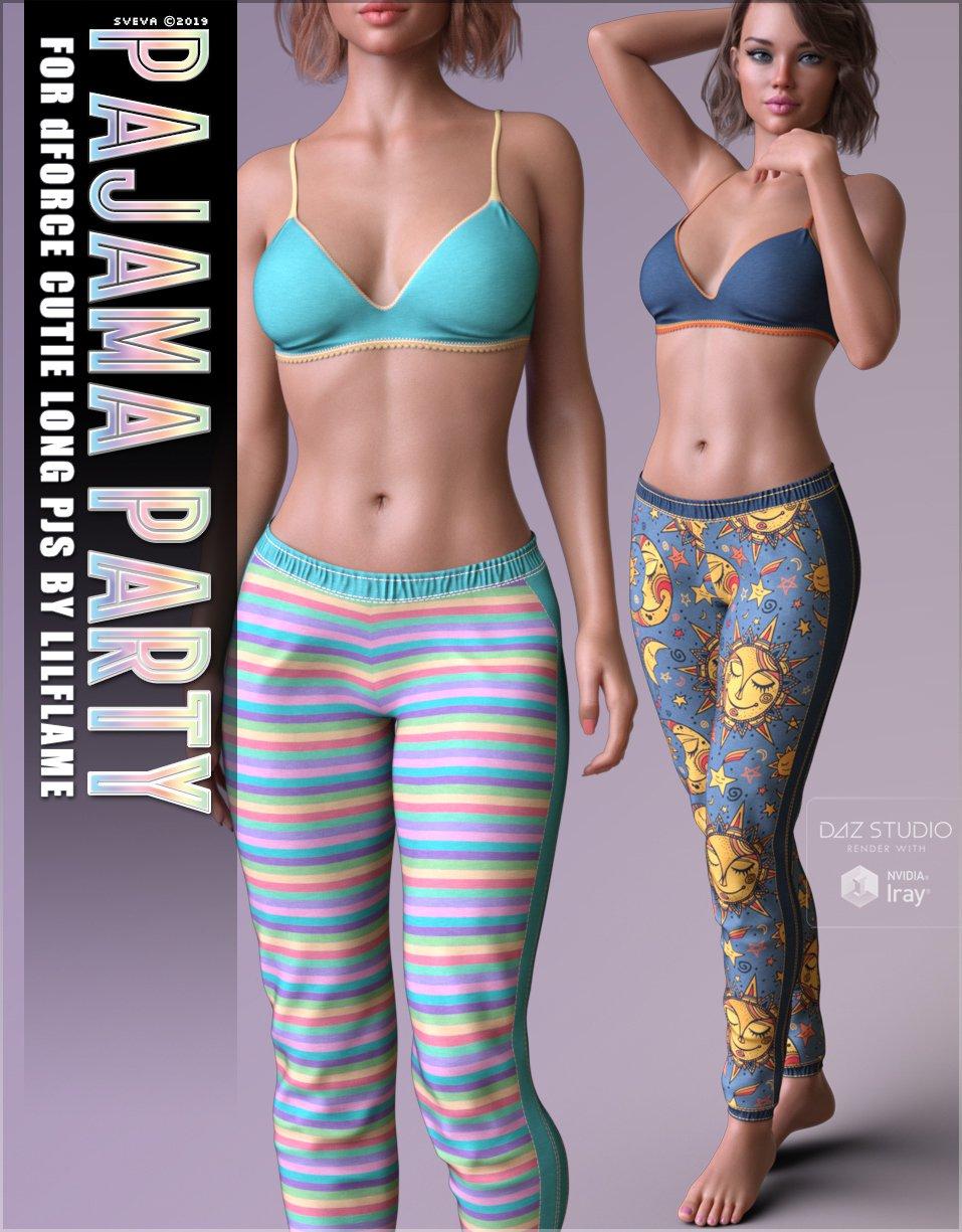 Pajama Party for dForce Cutie Long PJs_DAZ3D下载站